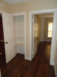 A closet with built in shelves in 428 Sunn yLane